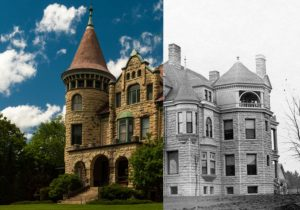 Castle La Crosse Bed and Breakfast - Then and Now